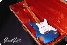 Fender Stratocaster Relic 1957 CustomShop 57 2015 Blue Sparkle Over 3TSB