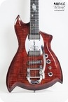 Bacce Custom Guitars The Rocket Custom Special 2018 Red Gloss Burst Matte