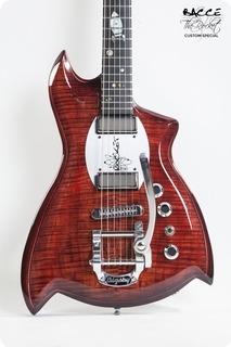Bacce Custom Guitars The Rocket Custom Special 2018 Red Gloss / Burst Matte