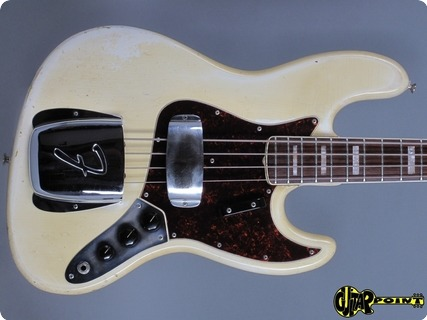 Fender Jazz Bass 1968 Olympic White / Match. Headstock