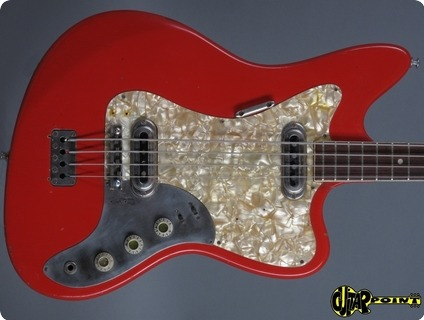 Framus Strato De Luxe Star Bass 5/165 52 1964 Red
