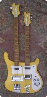 Rickenbacker 4080 Double Neck Guitar/bass 1980 White Yellow