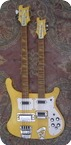 Rickenbacker-4080 Double Neck Guitar/Bass-1980-White Yellow