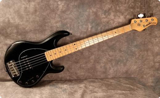 ernie ball music man stingray 5 1991 black bass for sale andy baxter bass guitars ltd. Black Bedroom Furniture Sets. Home Design Ideas