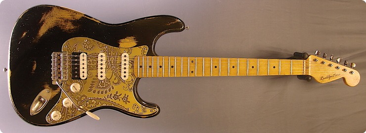 Real Guitars Custom Build Mastergrade Old Stock Wood 2018 Black Over Gold