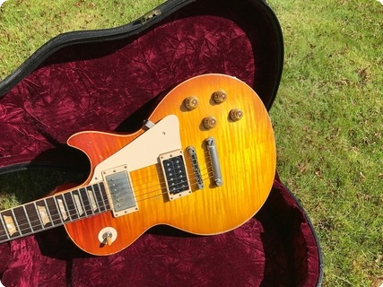 Gibson Custom Shop Jimmy Page Les Paul Standard No1 Ex Dan Hawkins The Darkness 2005 Cherry Sunburst