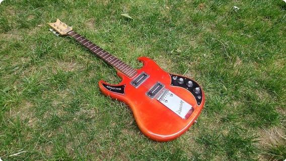 Baldwin Baby Bison V Headstock 1966 Red/orange