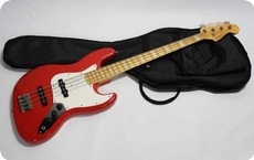 EdwardsESP Jazz Bass75 1998 Trino Red