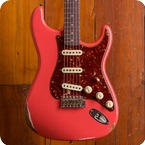 Fender Custom Shop Stratocaster 2018 Faded Aged Fiesta Red