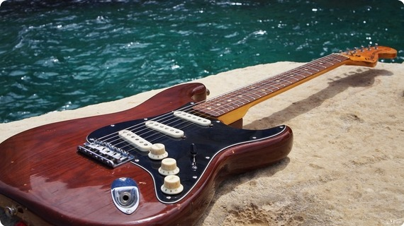Fender Fender Stratocaster Hard Tail 1976 | Usa 1976 Cellulose Mocha Brown