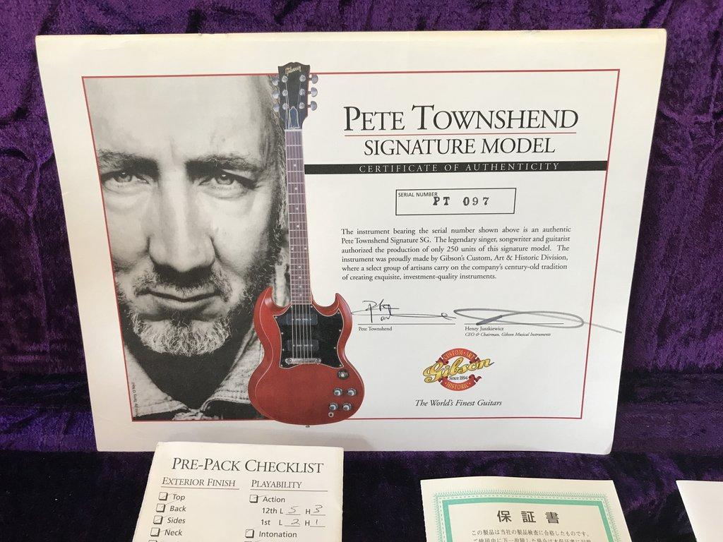 Gibson Custom Shop Pete Townshend SG Special VOS 2000 Guitar