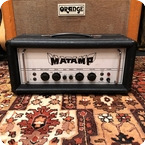Matamp Vintage 1970s Matamp Orange GT100 100w Valve Amplifier Head