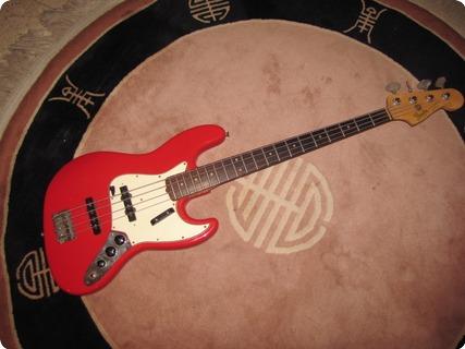 Fender Jazz Bass (refin) 1964 Fiesta Red