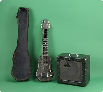 Magnatone Lap Steel And Amp Set 1952 Grey Pearloid