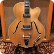 Hofner Vintage 1960 Hofner Committee Blonde Bigsby Electric Guitar OHSC