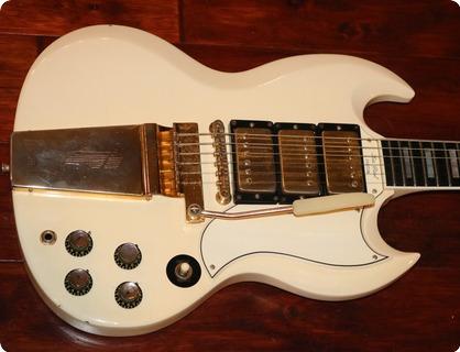 Gibson Sg Les Paul Custom  (gie1053)  1963 White