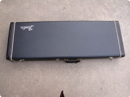 Fender Stratocaster And Telecaster Case 1972 Black / Orange