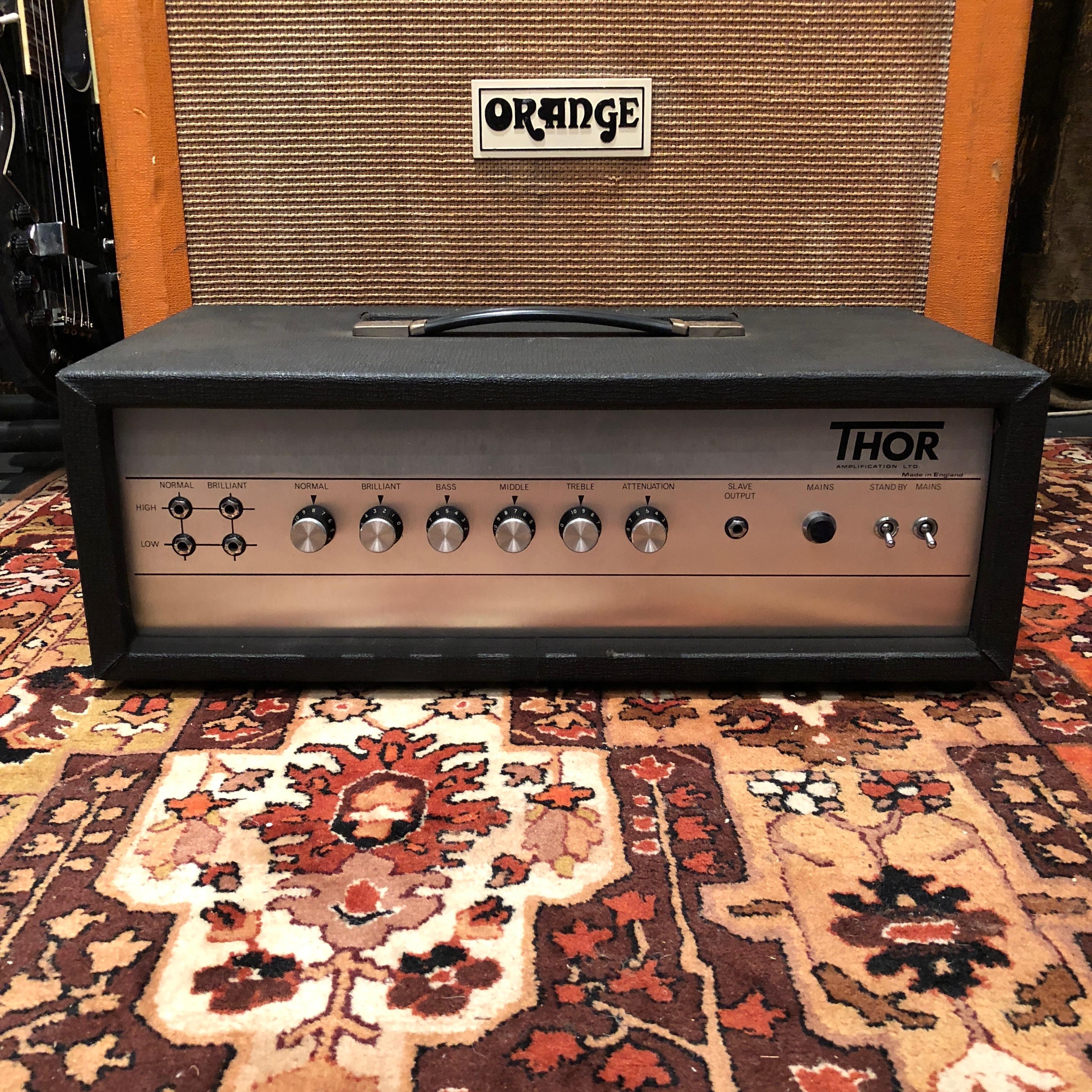 Marshall Vintage 1970s Thor Terry 100w Jtm45 Valve Guitar 100 W Audio Amplifier Amp