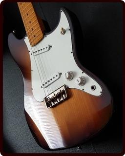Mario Cecil Guitars High Fidelity Brownie 2018 2 Tone Sunburst