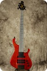 Le Fay Karlsson V Steel Fretless Red Translucent