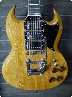 Roger Daguet Guitare Sg More 2018 Natural Amber