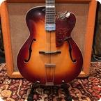 Zenith Vintage 1950s Zenith Super 33 Deluxe Sunburst Guitar Hofner Pickup