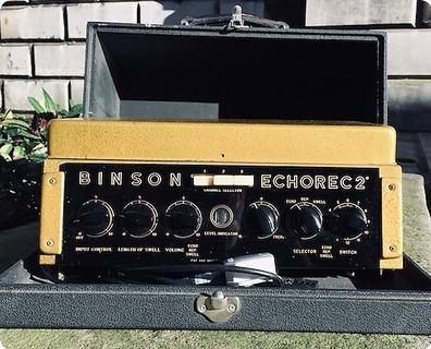 Binson Echorec 2 Ex Gary Moore 1970 Goldtop