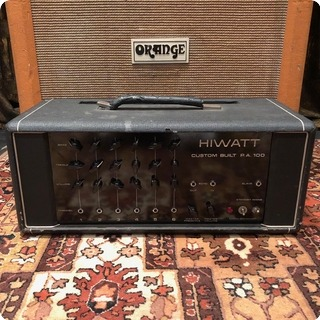 Hiwatt Vintage 1973 Hiwatt Custom Built Pa100 Dr112 Valve Amplifier Head