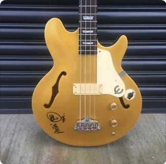 Epiphone Jack Casady Bass Ex Mani The Stone Roses Goldtop
