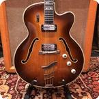 Hofner Vintage 1960s Hofner Committee Thinline Brunette Electric Guitar 5.5lbs Case
