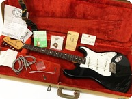 Fender Stratocaster American 62 Vintage Re Issue Pre Owned 1986 AVRI 1986 Black