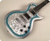 Zemaitis CS24PF MTP Metal Turquoise Pearl Top