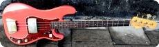 Fender-Precision / Refin-1963-Fiesta Red