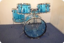Ludwig-Vistalite Blue-1978-Blue Transparent