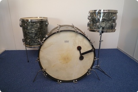 Slingerland Radio King Gene Krupa 1949 Black Diamond Pearl
