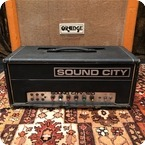 Sound City Vintage 1973 Sound City 120 B120 Bass Valve Amplifier Head