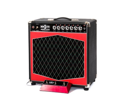 Monster Boutique Amps Monster Pineland 15/25 Rdcb 112 Combo 2019 Black & Red