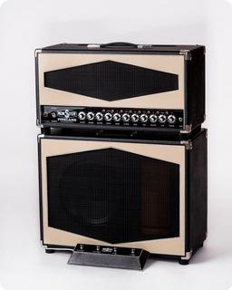 Monster Boutique Amps Monster Pineland 50/100 Rdcb Head + Monster Pineland Mcs 112r Cabinet 2019 Black & Ivory