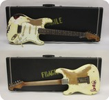 Fender Stratocaster 63 Heavy Relic Angie Clone 2019 Aged Olympic White Over 3Tone SB