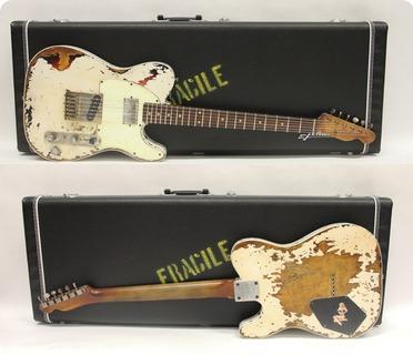 Fender Telecaster Custom ´63 Heavy Relic  2019 Aged Olympic White Over 3tone Sb