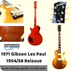 Gibson Les Paul 1971 Standard 5854 Reissue Gold Top 1971 Gold