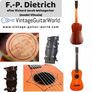 Frank Peter Dietrich Weissgerber Model (viuhela, Tielke Guitar, Chitarra Battenta)