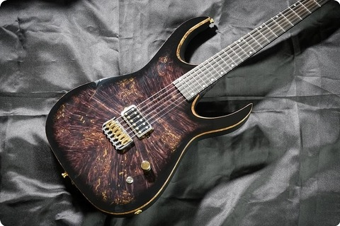 Valenti Guitars Callisto Custom #021 Ex Demo Price 2017 Trans Black And Gold