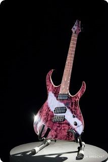 Valenti Guitars Callisto Gc Ff Trans Purple