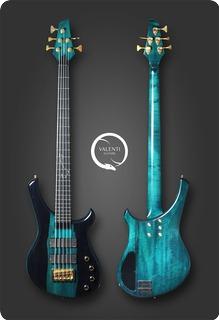 Valenti Guitars Antares 5corpio Trans Cobalt Green