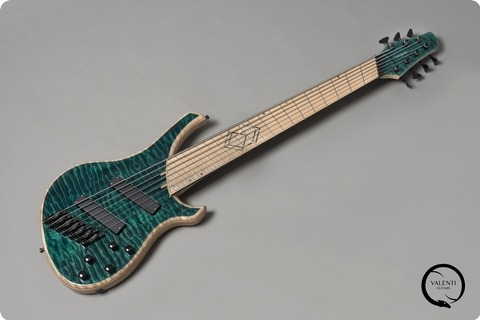 Valenti Guitars Antares 7 Fanned Custom Emerald Green