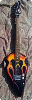 American Showster Guitars As 57 Classic Biker Gas Tank 1986 Black Flame