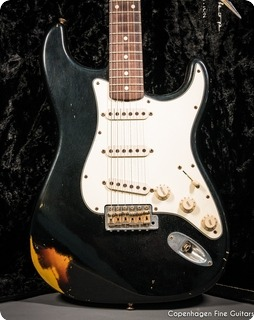 Fender Stratocaster Custom Shop 1960 Limited Edition 2005 Black Over Sunburst