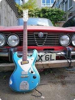 T.p.customs Guitars Meteorite Type Ii Vm 2018 Aged Pelham Blue Classic Relic