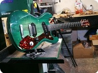 T.P.Customs Guitars Meteorite Type I 2018 Aged Green Burst